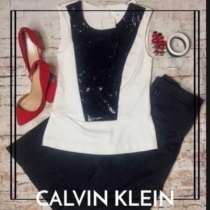 NWT CALVIN  KLEIN PEPLUM SHIRT!!
